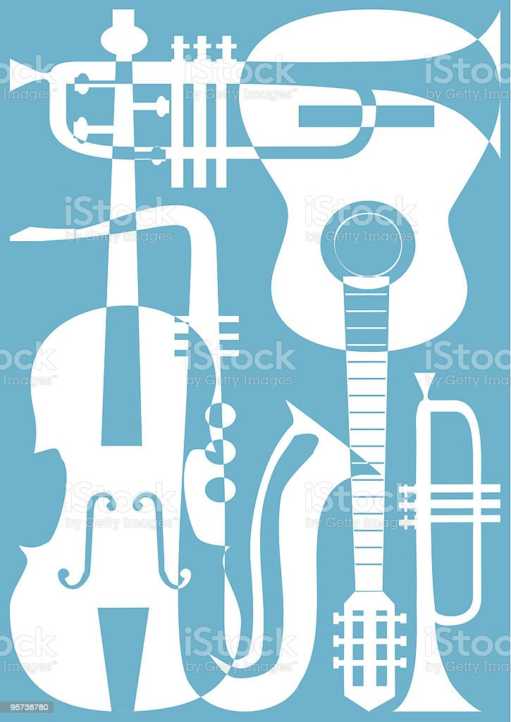 Music instrument vector royalty-free stock vector art