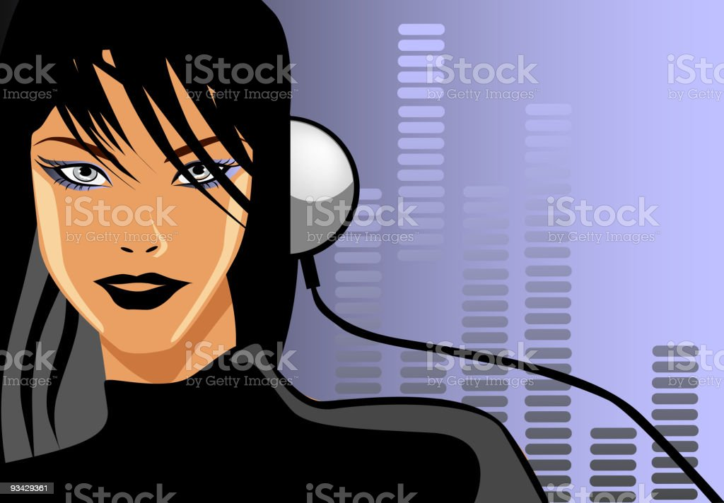 Music Love vector art illustration