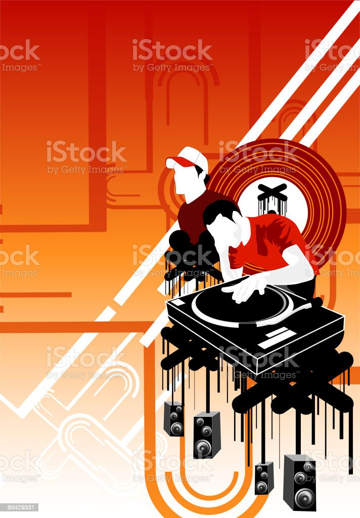 Music Mash-Up royalty-free stock vector art