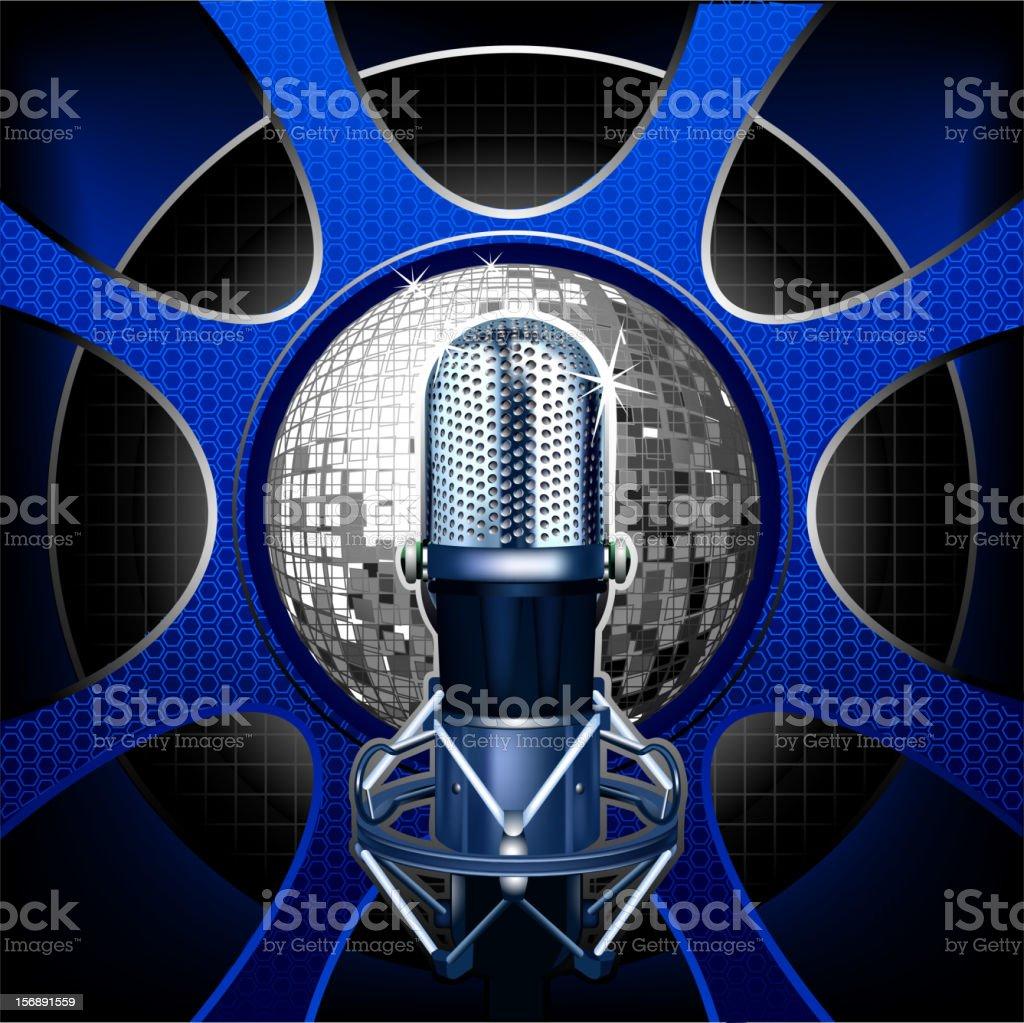 Music  modern microphone vector art illustration