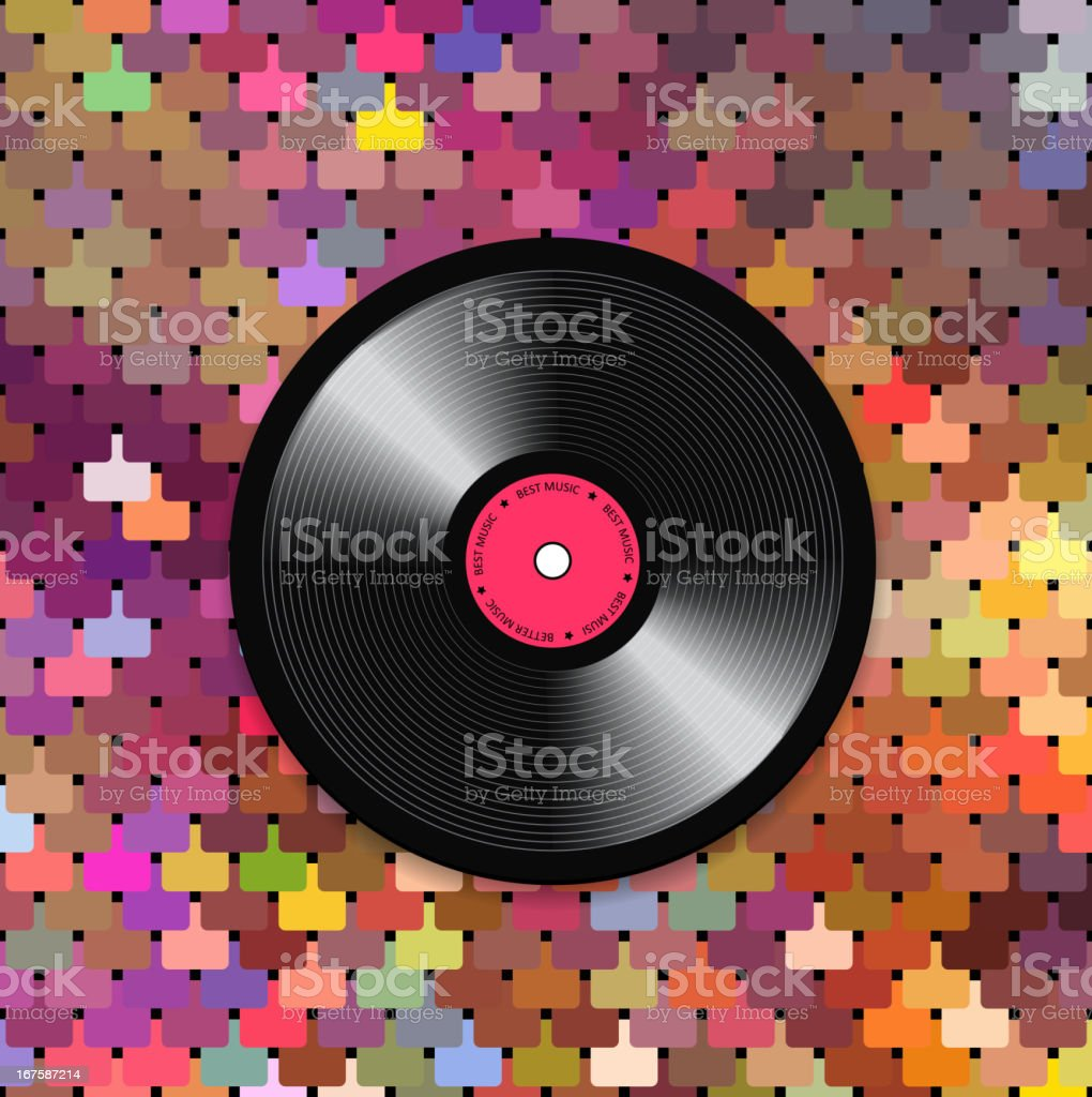 Music mosaic background vector art illustration