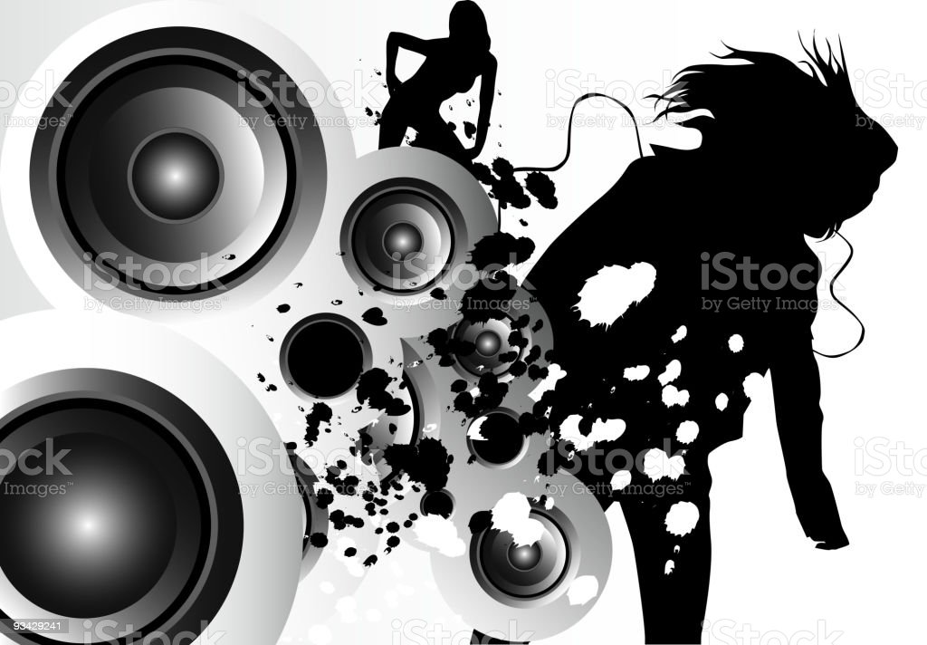 Music Motion vector art illustration