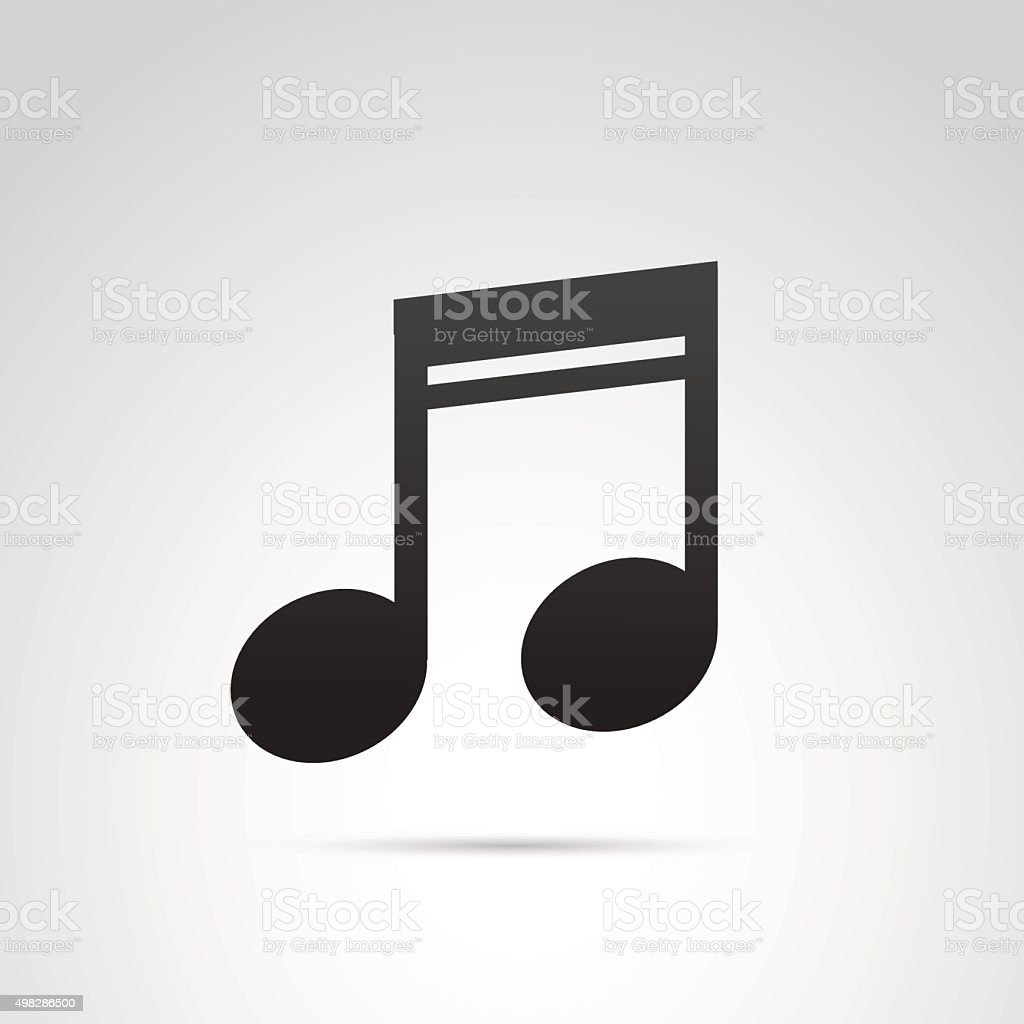 Music note icon. vector art illustration