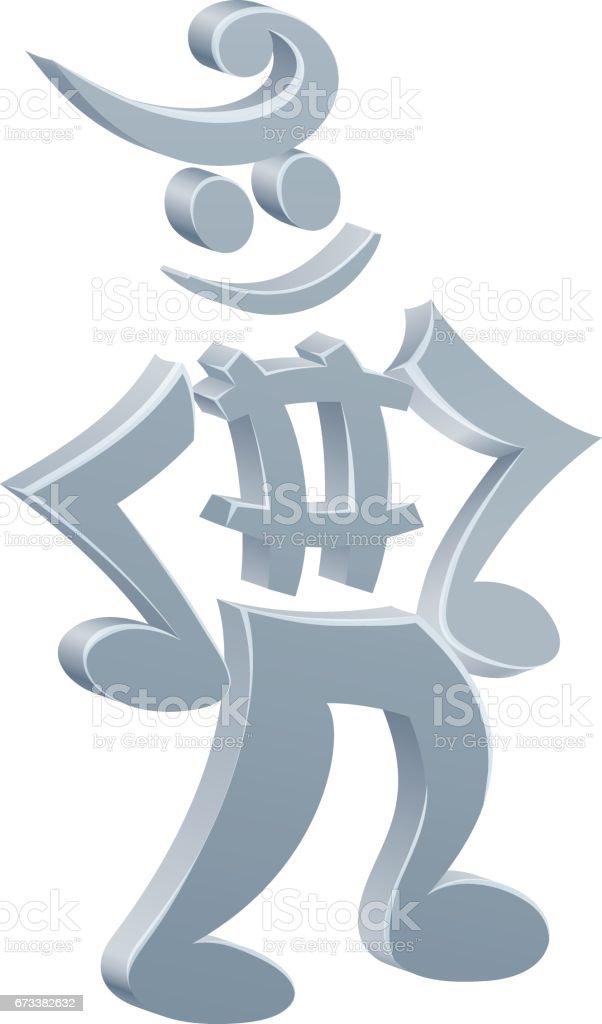 Music Note Mascot vector art illustration