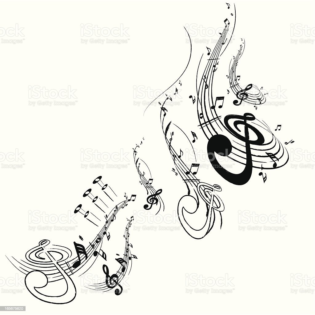 Music Note Motif royalty-free stock vector art