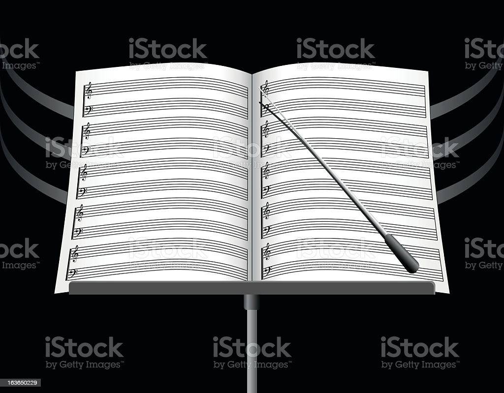 Music Note Sheets royalty-free stock vector art