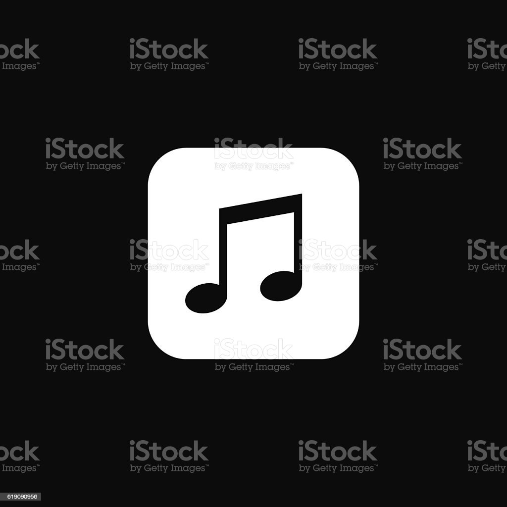 Music note. Simple flat melody icon. Vector illustration. vector art illustration