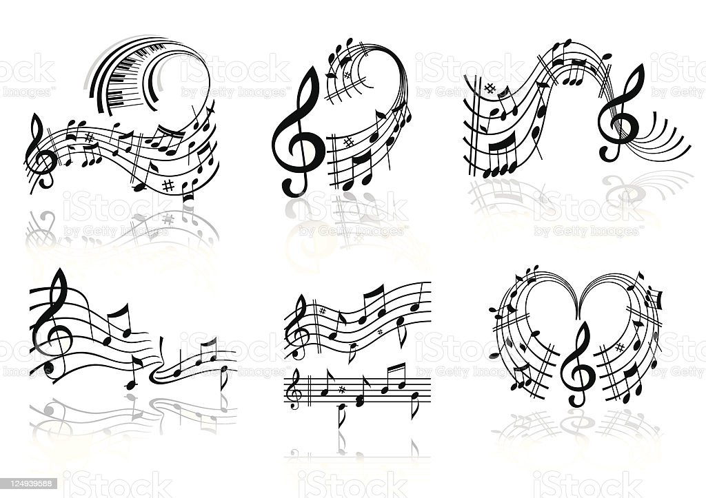 Music note . royalty-free stock vector art