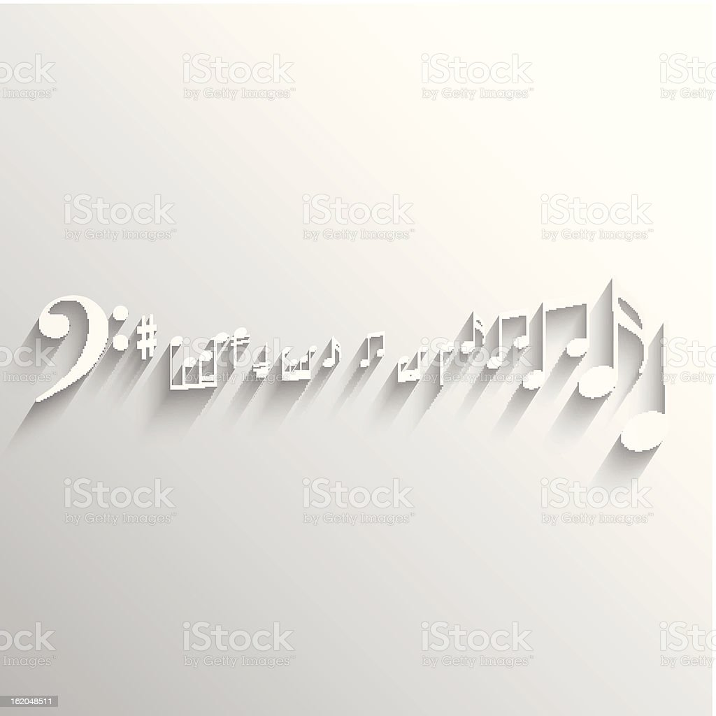 Music notes background. royalty-free stock vector art