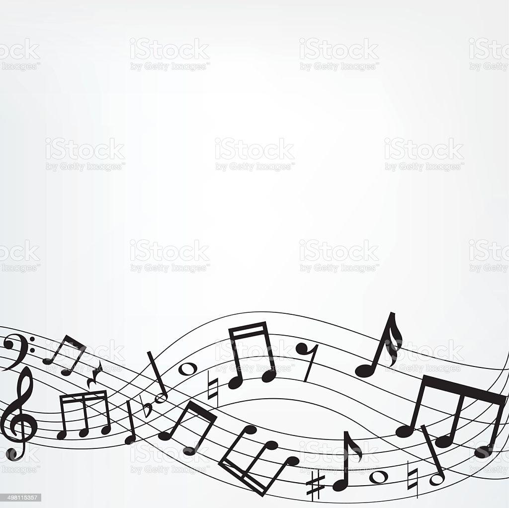 music notes border royalty-free stock vector art