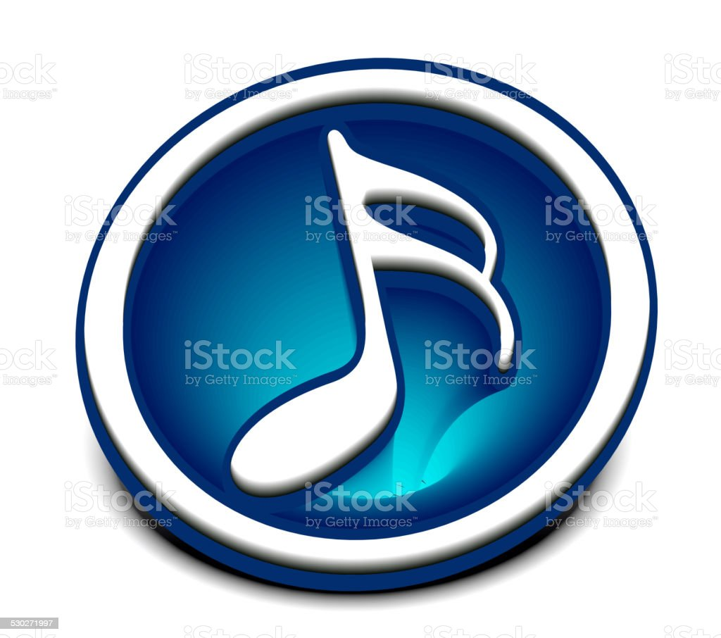 Music notes icon vector art illustration