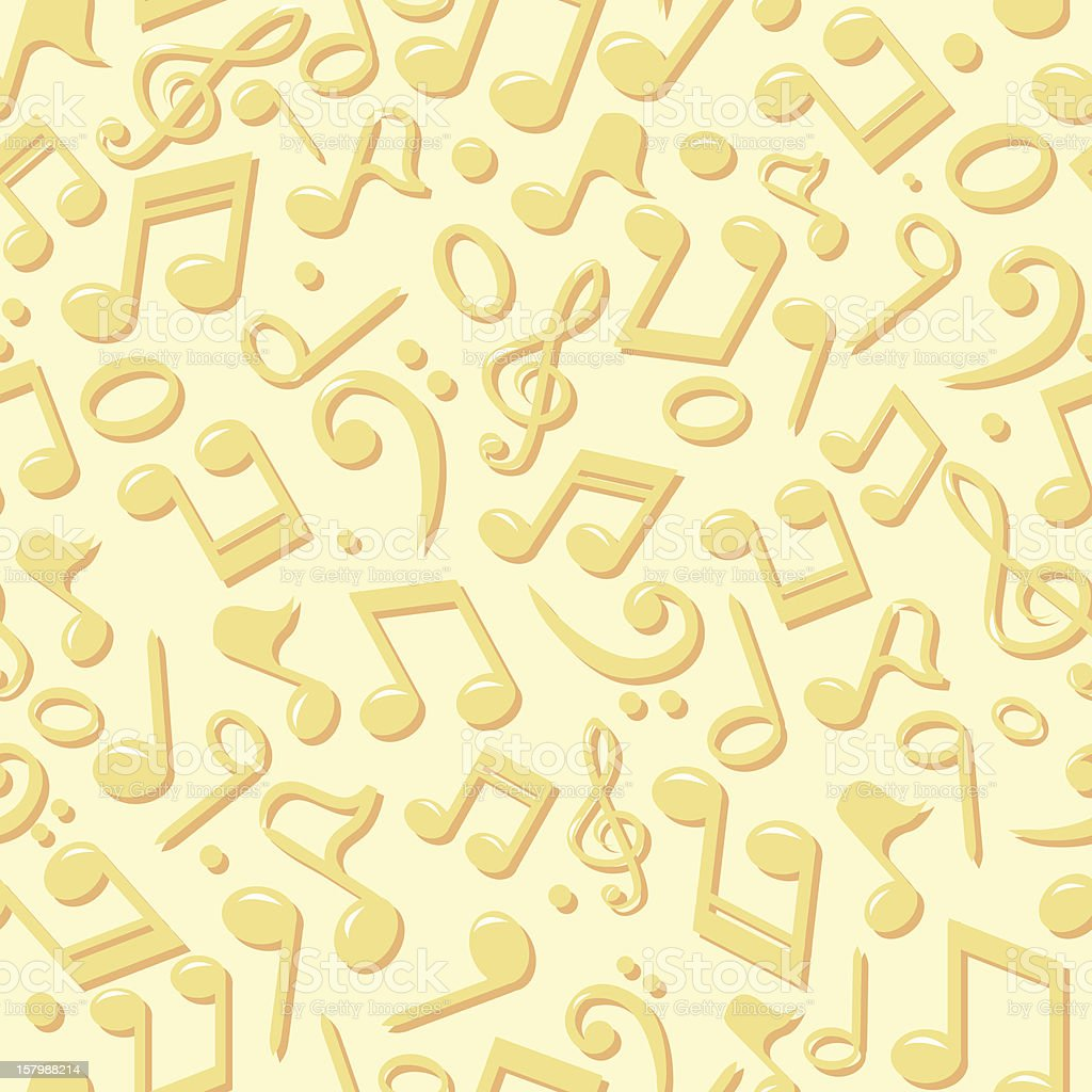 Music Notes Seamless Background royalty-free stock vector art