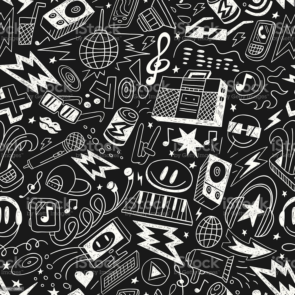 music party - seamless vector pattern royalty-free stock vector art