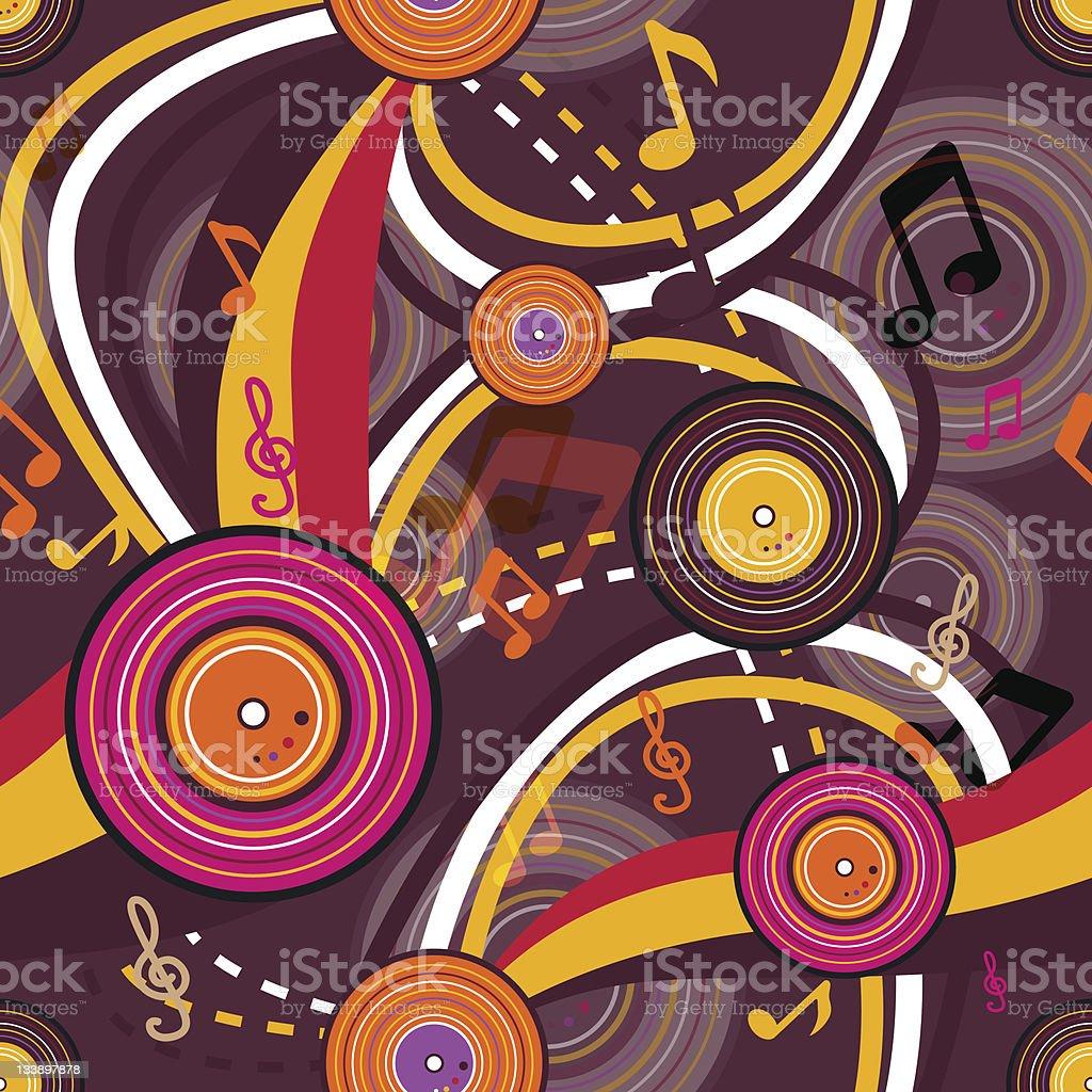 Music pattern royalty-free stock vector art