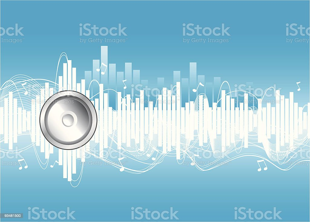 Music playing royalty-free stock vector art