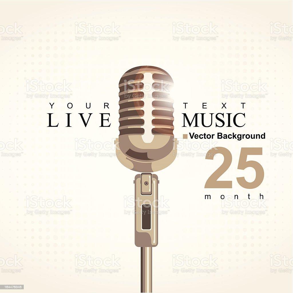 music poster vector art illustration