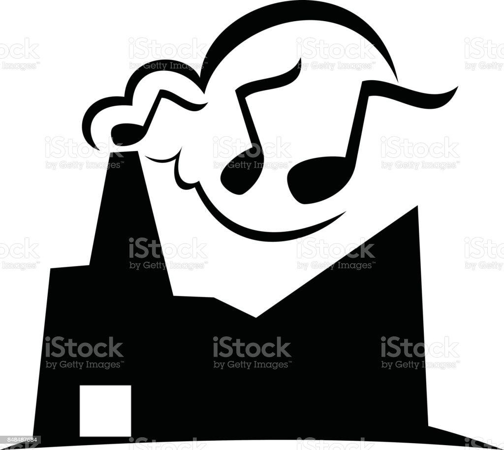 Music Production Solutions vector art illustration