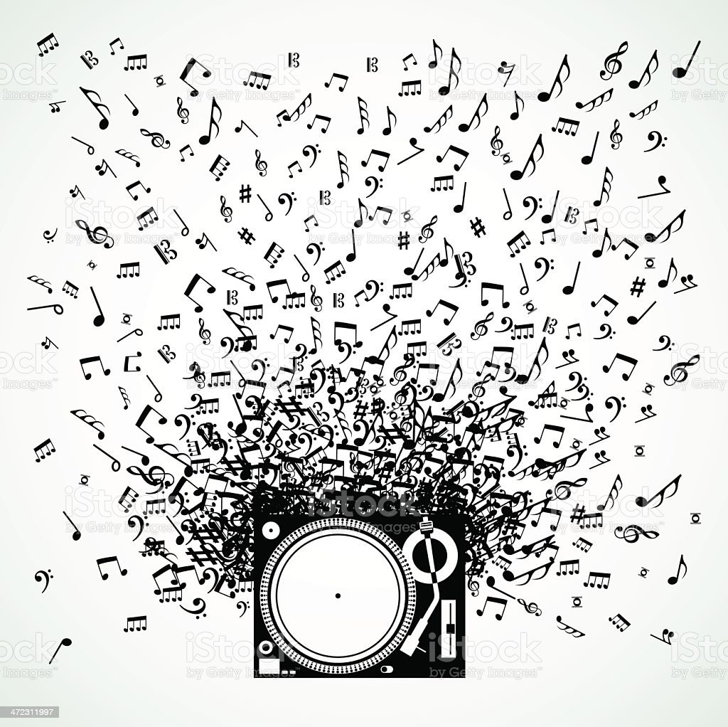 Music professional tray royalty-free stock vector art