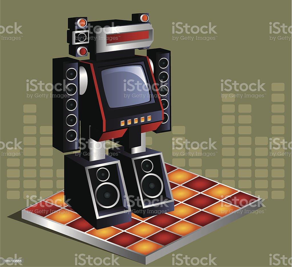 Music Robot royalty-free stock vector art
