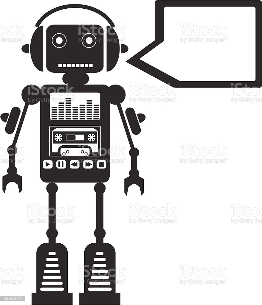 Music Robot royalty-free stock vector art