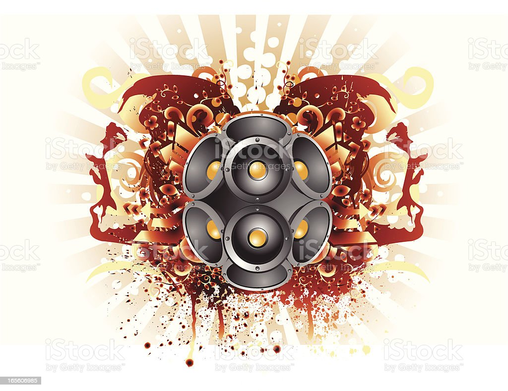 Music rocks vector art illustration