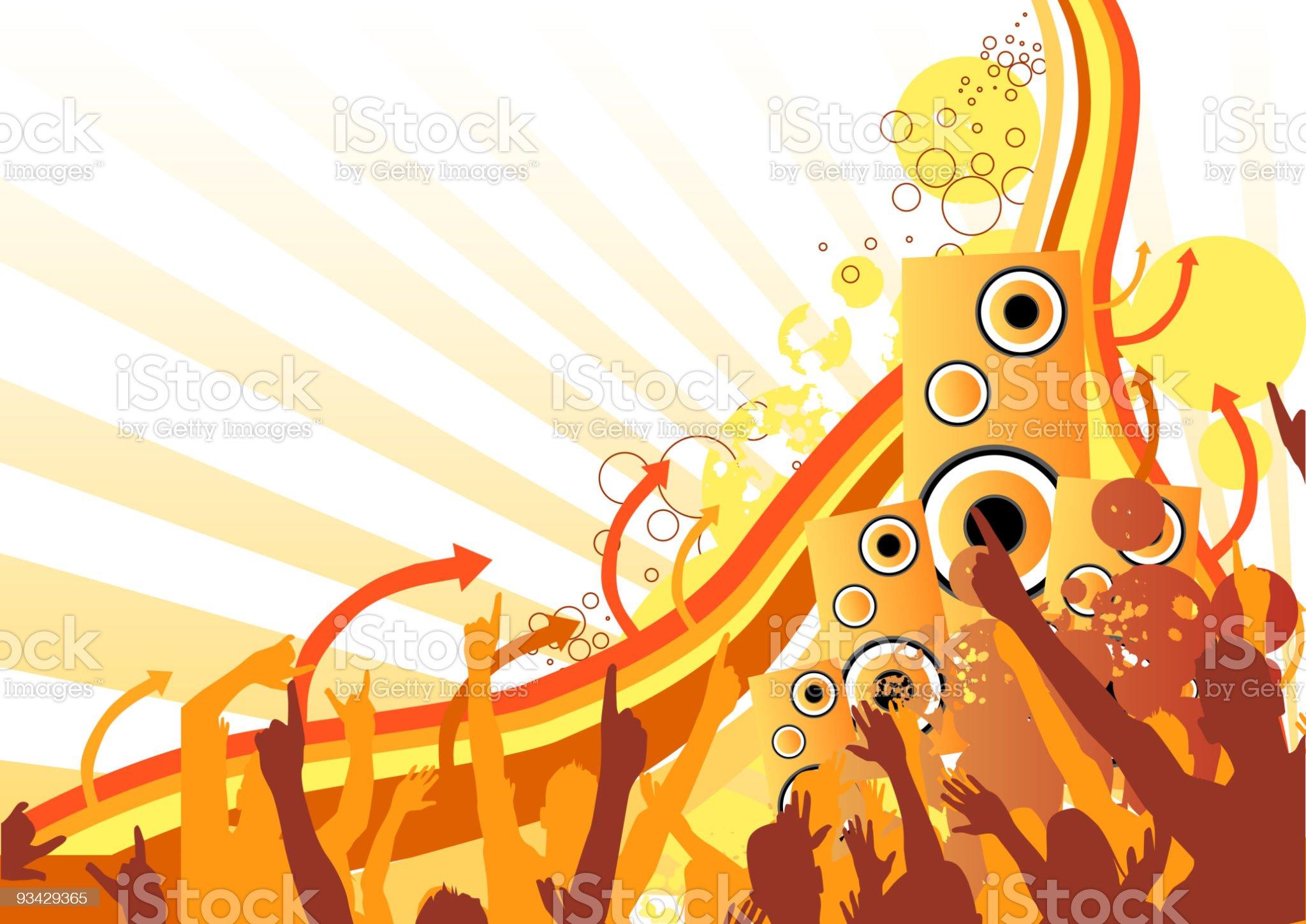 Music Rush royalty-free stock vector art