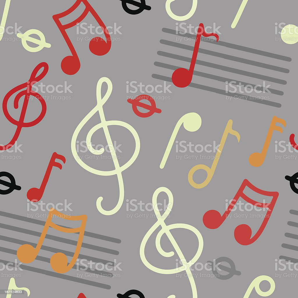 Music seamless pattern vector art illustration