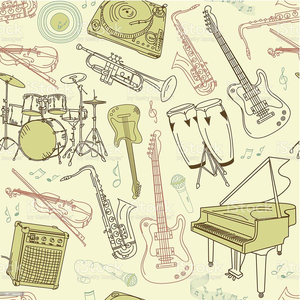music seamless pattern royalty-free stock vector art