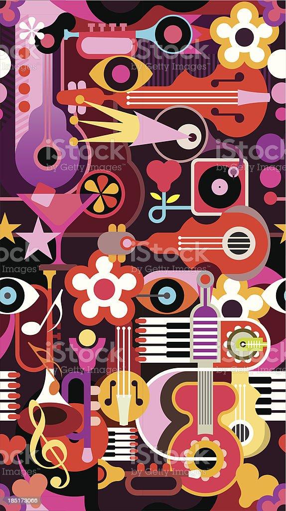 Music Seamless Wallpaper royalty-free stock vector art