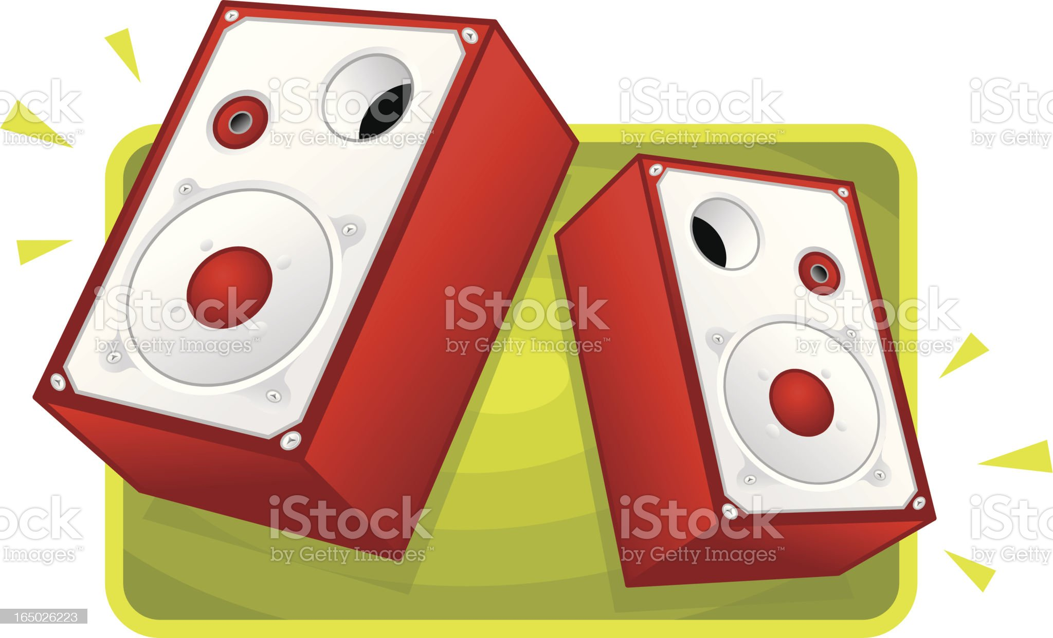 music - sound system speakers royalty-free stock vector art