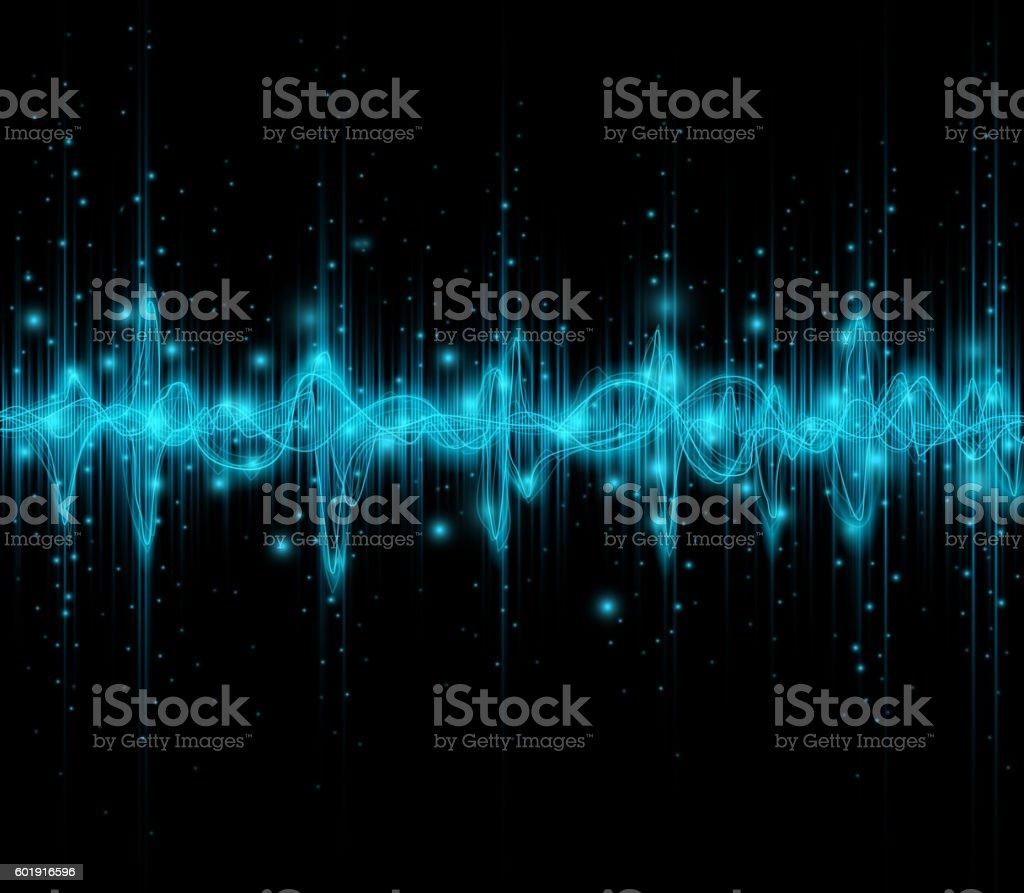 music sound waves vector art illustration