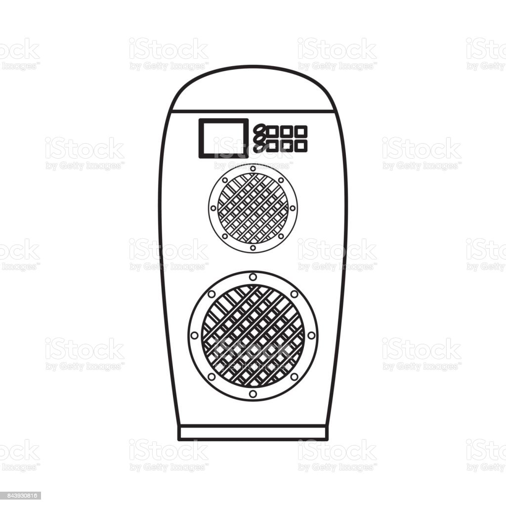 Music speaker isolated vector art illustration