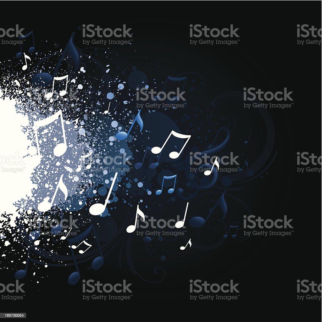 Music splatter royalty-free stock vector art
