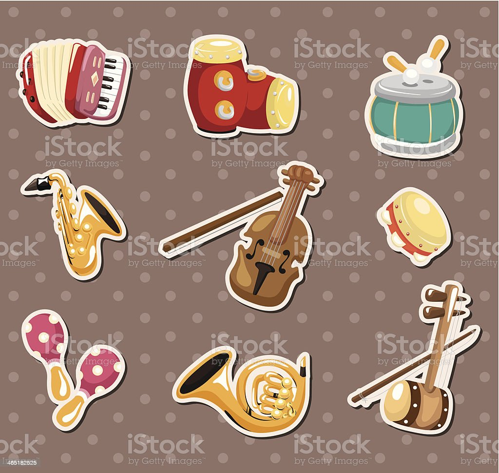music stickers royalty-free stock vector art