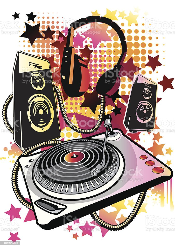 Music stuff royalty-free stock vector art