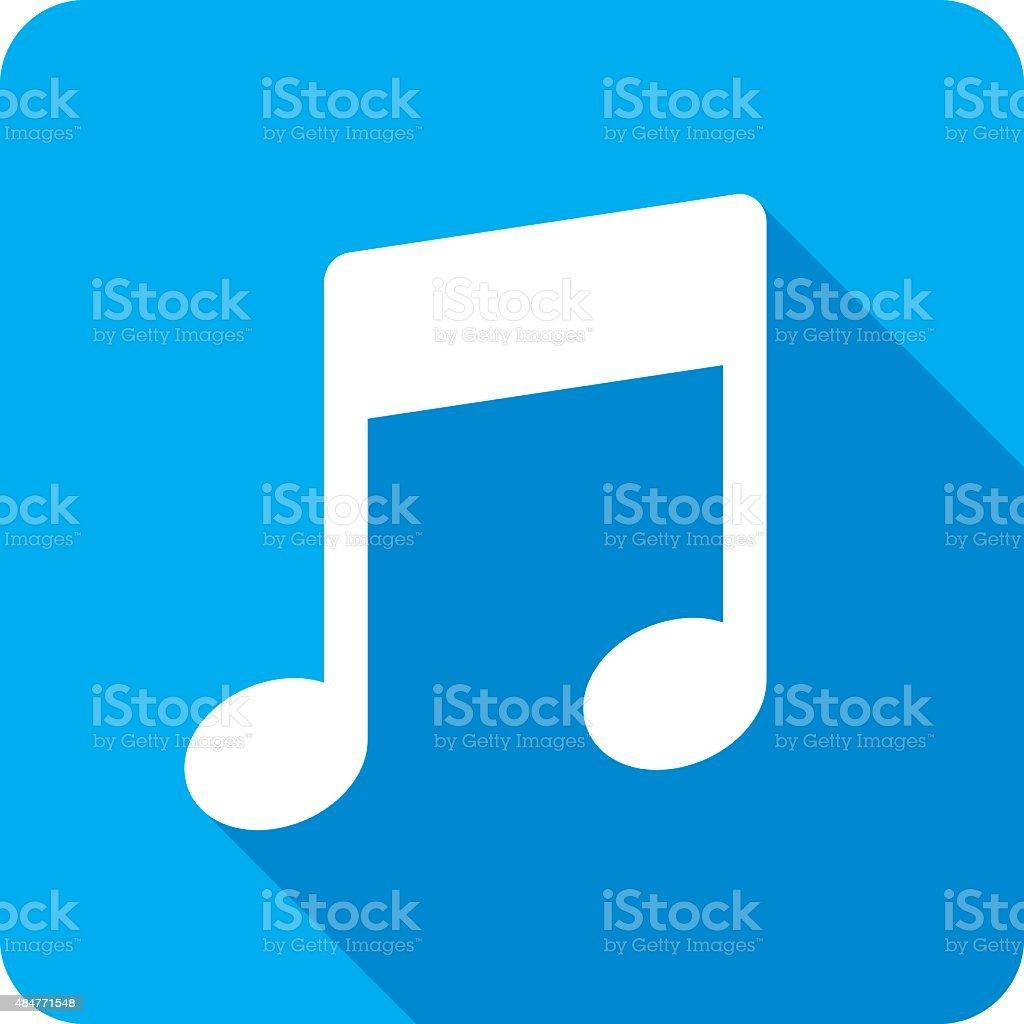 Music Symbol Icon Silhouette vector art illustration