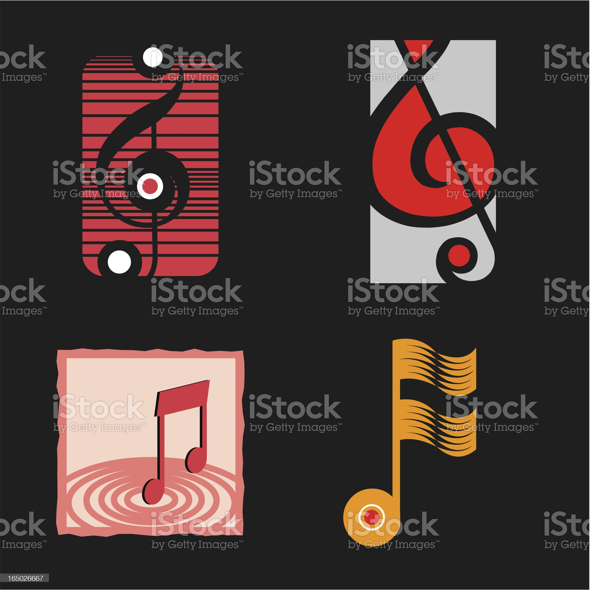 Music Symbols 2 - Vector royalty-free stock vector art
