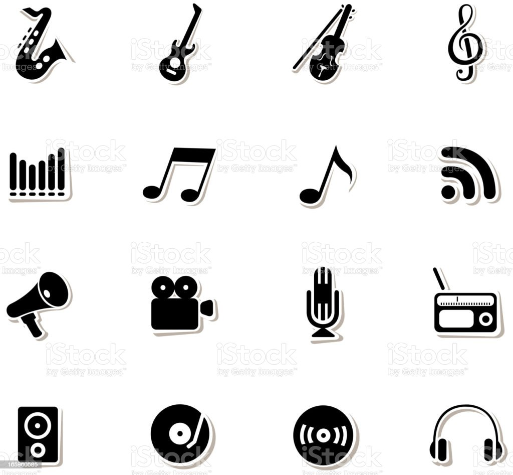 music symbols vector art illustration