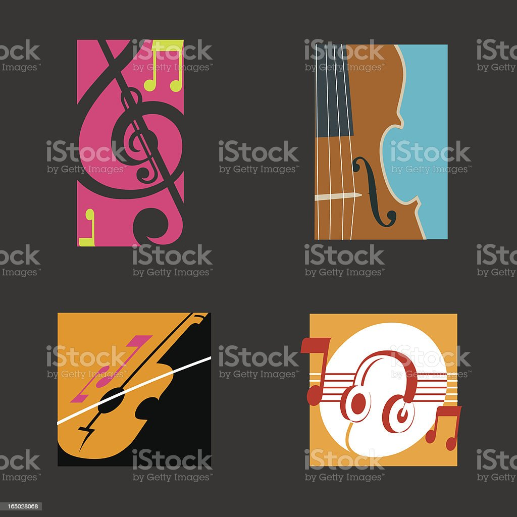 Music Symbols - Vector vector art illustration