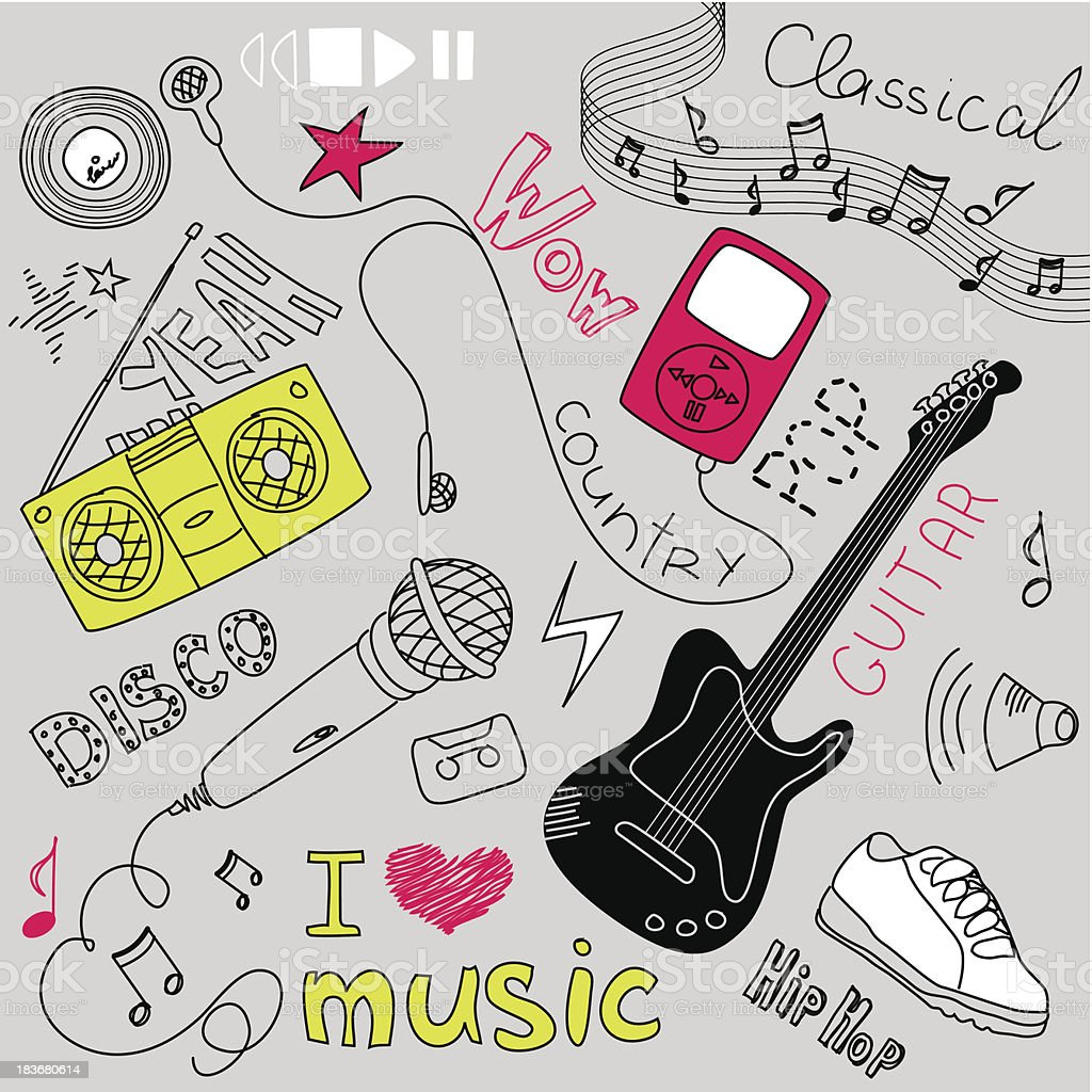 Music Vector Doodles royalty-free stock vector art