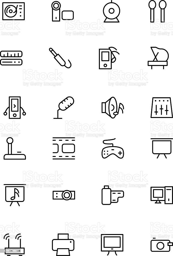 Music Vector Line Icons 4 vector art illustration