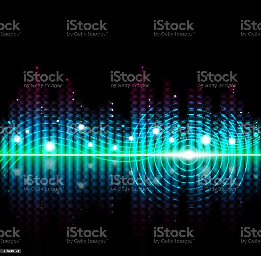 Music volume abstract background vector art illustration