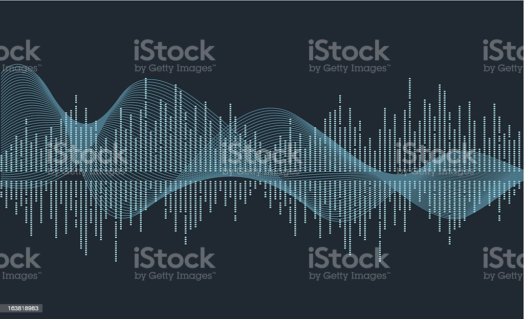 music wave vector art illustration