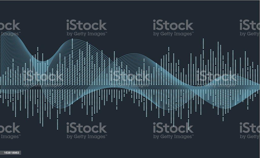 music wave vector art illustration