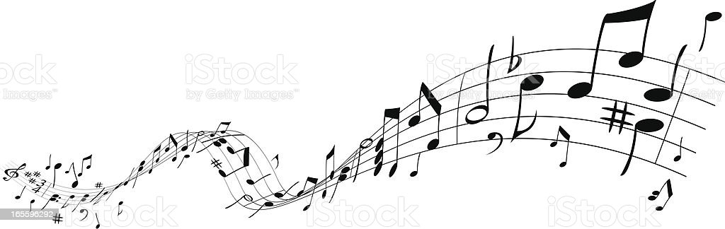 Music wave royalty-free stock vector art