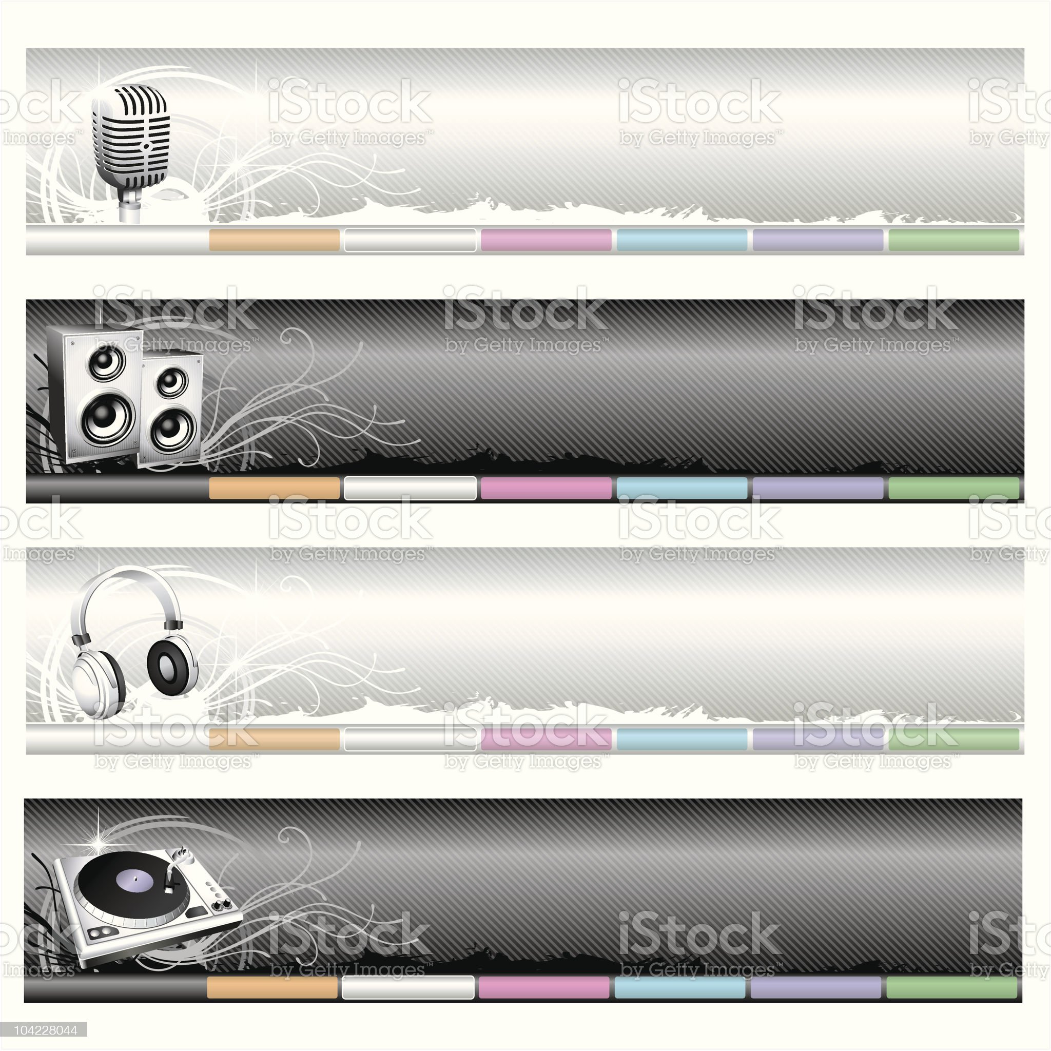 Music web-headers royalty-free stock vector art
