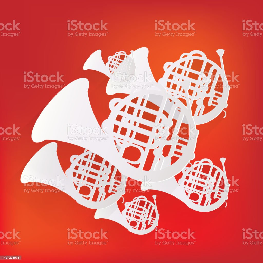 Music wind instruments icon royalty-free stock vector art