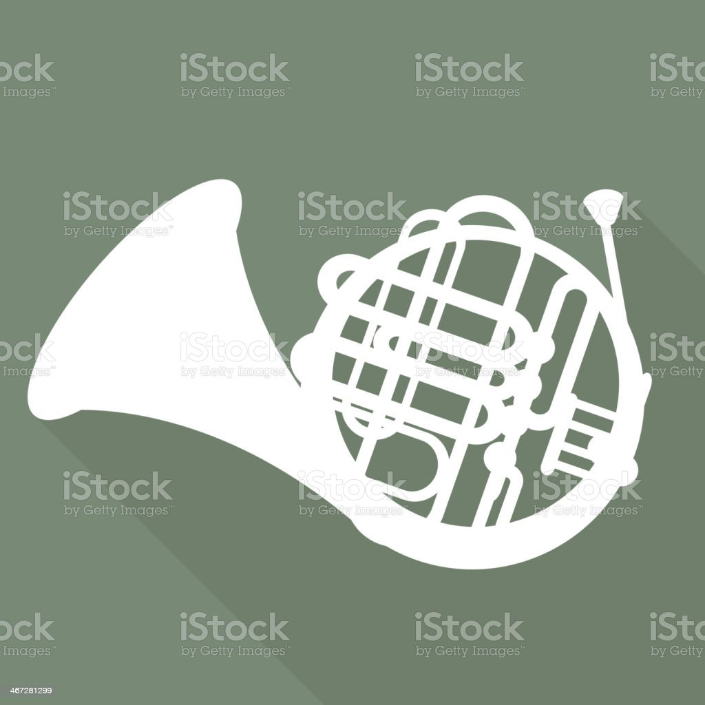 Music wind instruments icon vector art illustration
