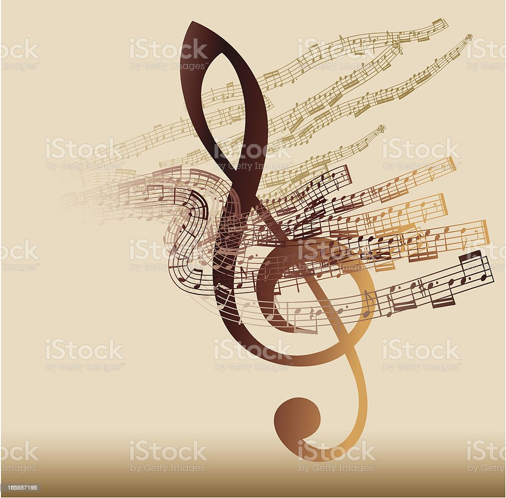 Musical abstraction royalty-free stock vector art