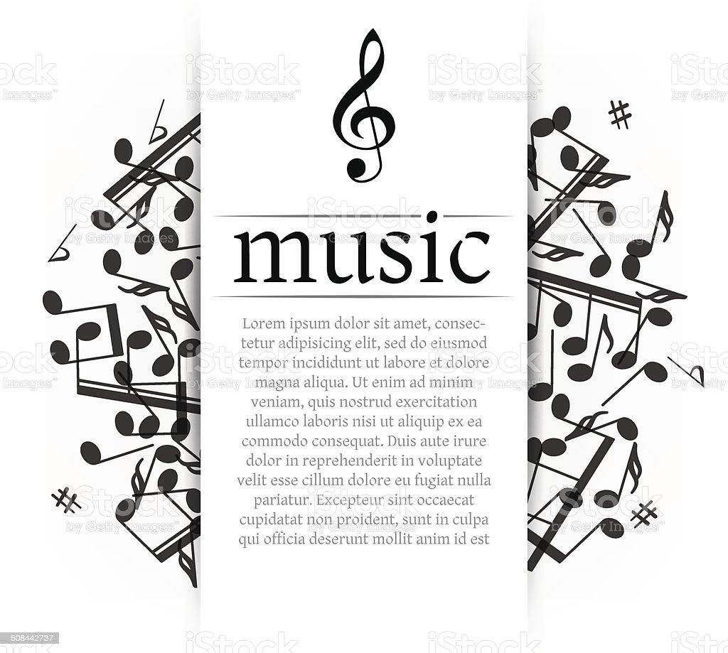 Musical background vector art illustration